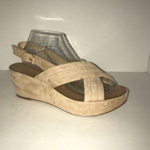 J.Crew Suede Wedge Sandals